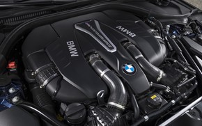 Picture engine, BMW, 5, under the hood, 2017, 5-series, G30, M550i xDrive, 462 HP, M-performance, V8 …
