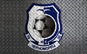 Picture Black, Blue, Sport, Logo, Football, Background, Metal, Logo, Coat of arms, Metal, Club, Odessa, Chernomorets, …