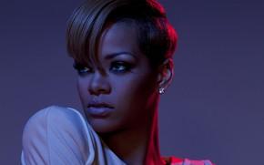 Picture portrait, singer, Rihanna, celebrity, short hair