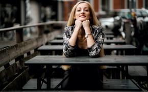 Picture girl, background, Kristina Kasanzev