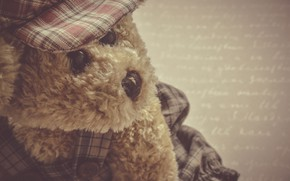 Picture letter, mood, toy, bear, Teddy bear