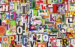 Wallpaper alphabet, layer, paint, letter