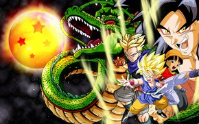 Picture anime, dragon, manga, japanese, Son Goku, Dragon Ball, Goku, Saiyan, Dragon Ball GT, super saiyajin