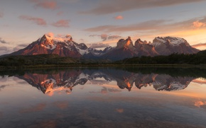 Picture mountains, lake, reflection