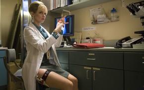 Picture zettai ryoiki, movie, weapon, gun, 2007, film, cinema, thigh, Planet Terror, Marley Shelton, Dr. Dakota ...