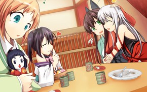 Picture kawaii, girl, anime, food, funny, asian, cute, doll, witch, japanese, kimono, oriental, asiatic, sugoi, deredere, …