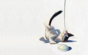 Picture cat, mood, the game, mouse, art, kitty, children's, James Bennett