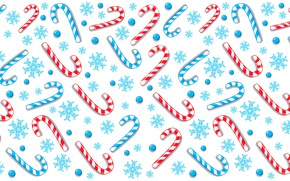 Picture snowflakes, pattern, sticks, candy