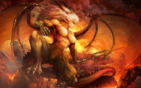 Wallpaper demon, female, Dragon's Crown