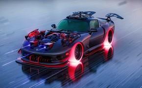 Picture Auto, Machine, Dodge, Art, Graphics, Viper, Dodge Viper, Supercar, Fiction, Hot Wheels, Dodge Viper, Concept …