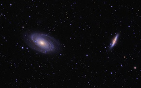 Picture space, stars, Galaxy Cigar, Galaxy Bode