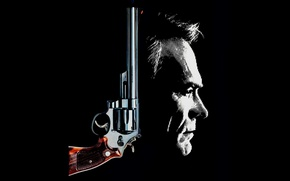 Wallpaper Clint Eastwood, revolver, Harry Callahan, The Dead Pool, Smith & Wesson, classic, face, 1988, weapon, ...
