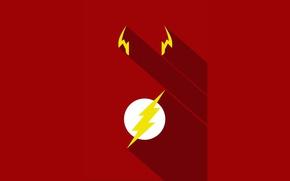 Picture red, logo, yellow, hero, DC Comics, Flash, yuusha, tv series, The Flash, Barry Allen, Jay …