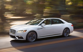 Picture road, speed, Lincoln Continental