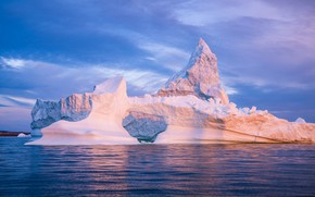 Picture ice, winter, sea, the sky, water, clouds, snow, landscape, nature, blue, dawn, blue, ice, morning, …