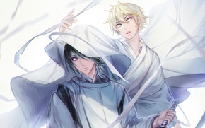 Picture anime, art, A Homeless God, Noragami, Yato, Yukine