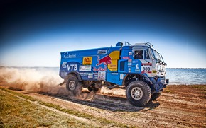 Picture Grass, Sport, Speed, Race, Master, Dirt, Squirt, Russia, Crimea, Water, Kamaz, Rally, Rally, KAMAZ, Bach, ...