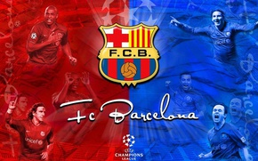 Picture wallpaper, sport, logo, football, FC Barcelona, players