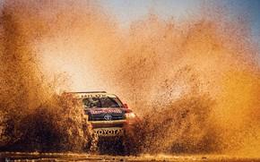 Picture Water, Auto, Sport, Machine, Speed, Race, Dirt, Squirt, Toyota, Hilux, Rally, Dakar, Dakar, SUV, Rally, …