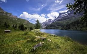 Wallpaper lake, Engstlensee, Switzerland