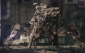 Wallpaper Robot, metal, cannon