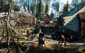 Picture village, The Witcher, The Witcher 3, Ious