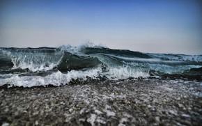 Picture sea, wave, foam, water, squirt, shore, coast, wave, surf