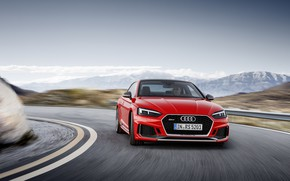 Picture Audi, German, Red, Speed, RS5, 2018, Road, Drive, RS, A5