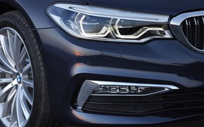 Picture headlight, wheel, the hood, BMW, grille, sedan, bumper, the front part, xDrive, 530d, Luxury Line, …