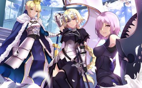 Picture Fate Stay Night, anime, Saber, bishojo, Fate/Apocrypha, japonese, Fate Apocrypha, FateApocrypha, Typo Moon