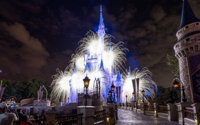 Picture castle, beauty, tale, salute, Disneyland