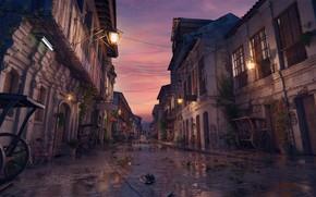 Picture street, building, lights, Vigan Sunset, oldstreet sunset