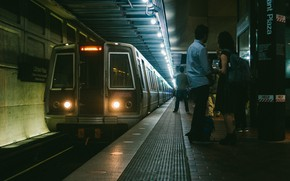 Picture Waiting, People, Train, Metro, Platform