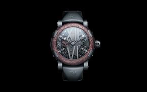 Picture background, black, watch, Switzerland, Switzerland, Swiss, watch, Swiss, background black, Romain Jerome, ROMAIN JEROME STEAMPUNK …