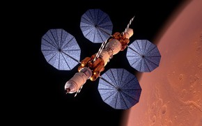 Picture space, flight, Mars, experimental apparatus, The base camp of Mars