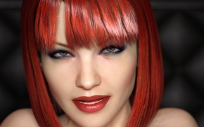 Picture look, girl, makeup, red hair