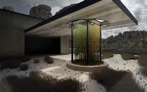 Picture sand, vegetation, construction, object, Beton veget
