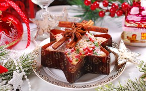 Picture holiday, new year, cinnamon, cakes, perog