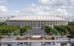 "Picture Sport, Football, Moscow, Russia, Stadium, Rendering, Luzhniki, The Main Stadium, Stadium ""Luzhniki"""