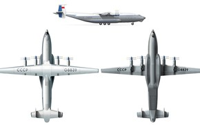 Wallpaper The plane, USSR, An-22, Scheme, Antey, Cargo, Antonov, An-22, Antey
