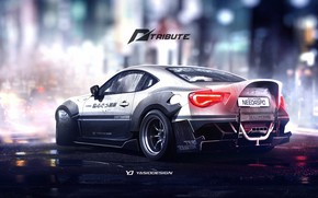 Picture Auto, Figure, Machine, White, Toyota, Car, NFS, Car, Art, Art, Rendering, Toyota GT 86, GT86, …