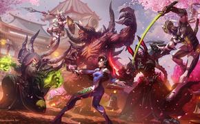 Picture blizzard, diablo, art, hots, Heroes of the Storm, overwatch, genji, cassia, taking