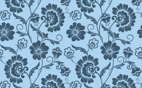 Wallpaper flowers, background, pattern, texture, ornament, vintage