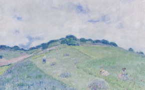 Picture landscape, picture, Frederick Carl Frieseke, Friedrich Karl Friske, The hills of Giverny