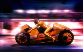 Wallpaper design, motorcyclist, Lee Rosario, motorcycle, concept, race, background, speed, style