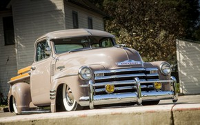 Picture Chevrolet, classic, truck, 3100, hrome, pic up
