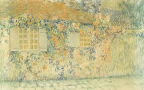Picture house, street, figure, Henry Le Sedane Products, Studio. Of gerberoy is, Henri Le Sidane