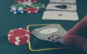 Picture card, macro, chips, ACE, poker, king