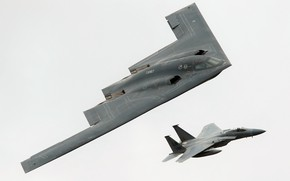 Picture fighter, Spirit, Eagle, bomber, F-15, strategic, McDonnell Douglas, B-2A