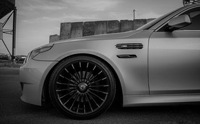 Picture BMW, Grey, BMW M5, Alpina, BLACK, M5, Alpina B3 Biturbo, powered by M